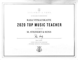Rasa Vitkauskaite Top Steinway Teacher